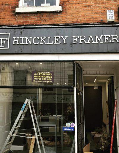 Hinckley Framers Rasied Signage