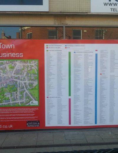 Hinckley Town Centre Map sign