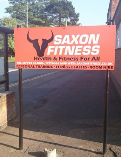 Saxon fitness sign