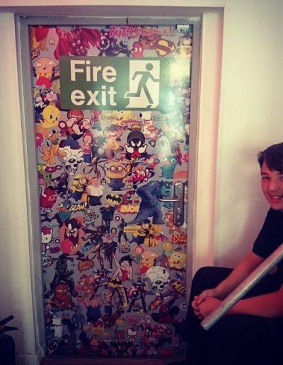 Sticker Bomb Door